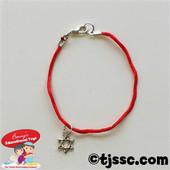 Red Bracelet with Mini Silver Star of David