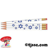 Stars of David Jewish & Hebrew Pencils