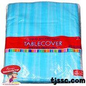 "Flannel-Backed Table Cover Del Sol Blue 50"" X 70"" Oblong"