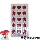 Rosh HaShana Apples & Gems Puffy Glittery Stickers
