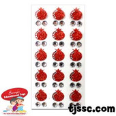 glittery pomegranates & gems stickers for Rosh HaShana, the Jewish new year.