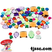 Plastic Mega Jewel Shapes Assortment