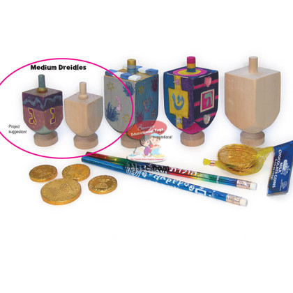 Wooden Dreidel for Decoration Hanukkah arts and craft project