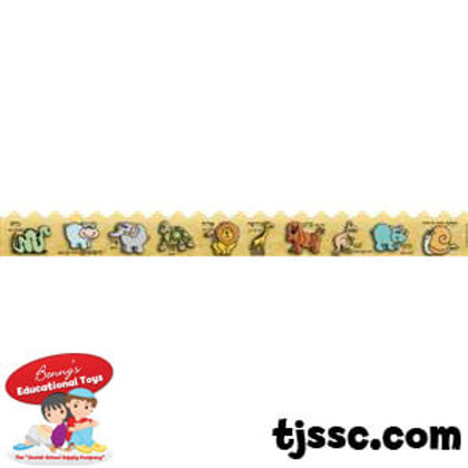 Animals Transliterated Paper Border