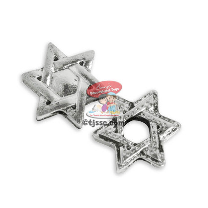Metal Star Of David Beads