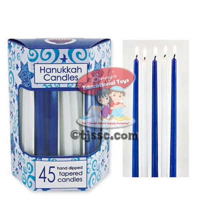 Deluxe Tapered Blue and White Candles