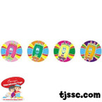 Torah Sticker Dots  - Jewish Stickers
