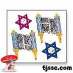 Torahs and David Stars Roll