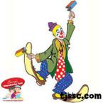 Purim Clown Card Stock Cut Outs
