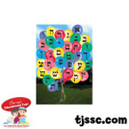 Hebrew Aleph Bet (Hebrew Alphabet) Baloon Card Stock Poster