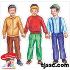 Three Children Card Board