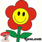 Happy Face Flower Card Stock