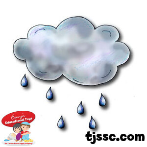 Clouds and Raindrops card Board