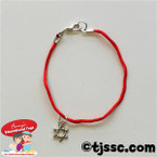 Red Bracelet with Mini Silver Star of David