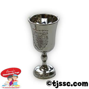 Silver reusable plastic Kiddush cup