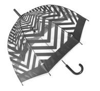Metro Grey Clear Umbrella
