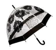 Dome Cabbage Rose Clear Umbrella