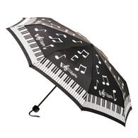 Compact Music Notes Umbrella