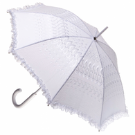 Wedding White Fabric Parasol