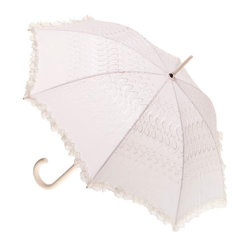 Wedding Beige Fabric Parasol