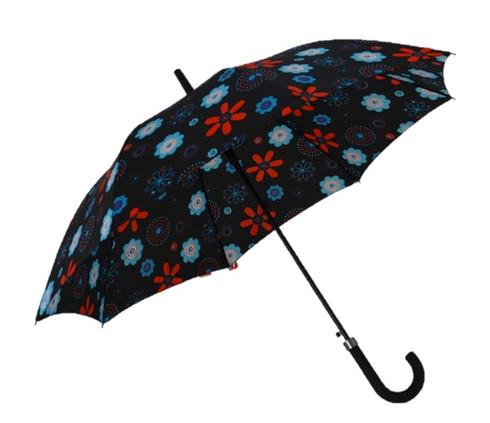 Flowers On Black Umbrella Side