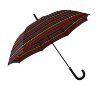 Black Red Yellow Blue Stripes Umbrella Side