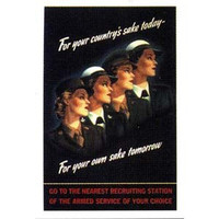 World War II Women Poster