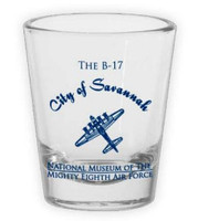 """City of Savannah"" B-17 Shot Glass"