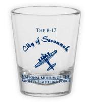 """""""City of Savannah"""" B-17 Shot Glass"""