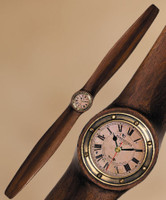 Wooden Propeller with clock (small)