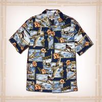Island Mist Aloha Shirt Blue