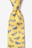 WWII Fighter Plane Necktie Yellow
