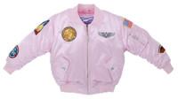 Girls Pink MA-1 Flight Jacket