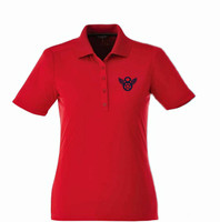 Mighty 8th Performance Polo - Red