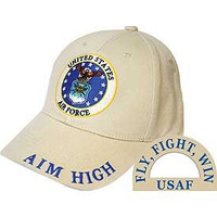 Aim High Air Force Baseball Cap Khaki
