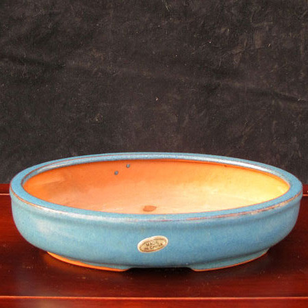 Light Turquoise Oval Pot