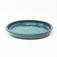 "9"" Teal Oval Ceramic Humidity Tray (HTOG-9)"