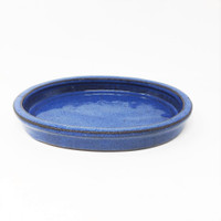 "6 1/2"" Blue Oval Ceramic Humidity Tray (HTOB-6)"