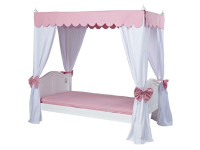 Princess Poster Bed w/ 2 sets of Corner Fabrics & Canopy