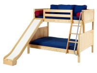 Twin/Full (Low/Med) Bunk w/ Angle Ladder & Slide