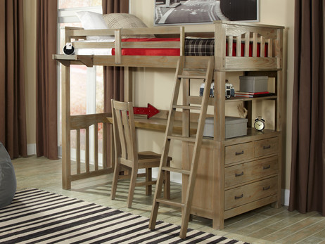 Seaview Loft Bed Twin - Bedroom Source
