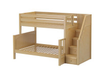 Twin/Full Bunk w/ Staircase (Natural)