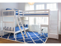 Med High Corner Loft Bunk w/ Ladder & Stairs