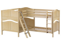 Med High Corner Bunk w/ Ladders