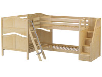 Med High Corner Bunk w/ Ladder & Stairs