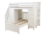 Space Saver Loft Twin/Twin w/2 Chests & Stairs