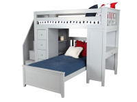 Space Saver Loft Twin/Twin w/Desk, Chest & Stairs