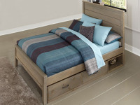 Seaview Panel Bed Full with Storage Drawers