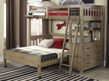 Seaview Loft Bed Twin over Full - Bedroom Source