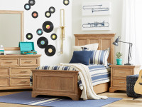 Chelsea Square Panel Bed Twin - French Toast